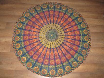 Oosterse roundie, Oosters kleed peacock kleuren rond kleed