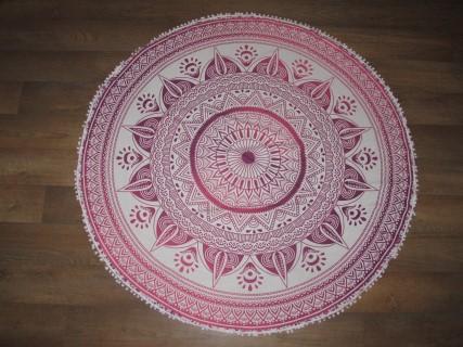 Oosterse roundie met prachtig roze mandala patroon