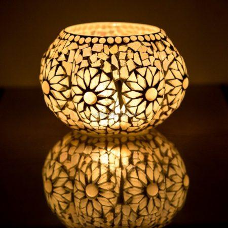 Oosterse waxinehouder | Sfeerverlichting online | Oosters interieur | Mozaïek lamp