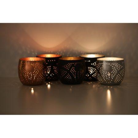 Oosters waxinehouder | Filigrain | Zwart | Oosterse lampen