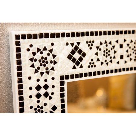 Mozaïek spiegel | Oosterse spiegels | Badkamer spiegel | zwart/wit | Oosters interieur