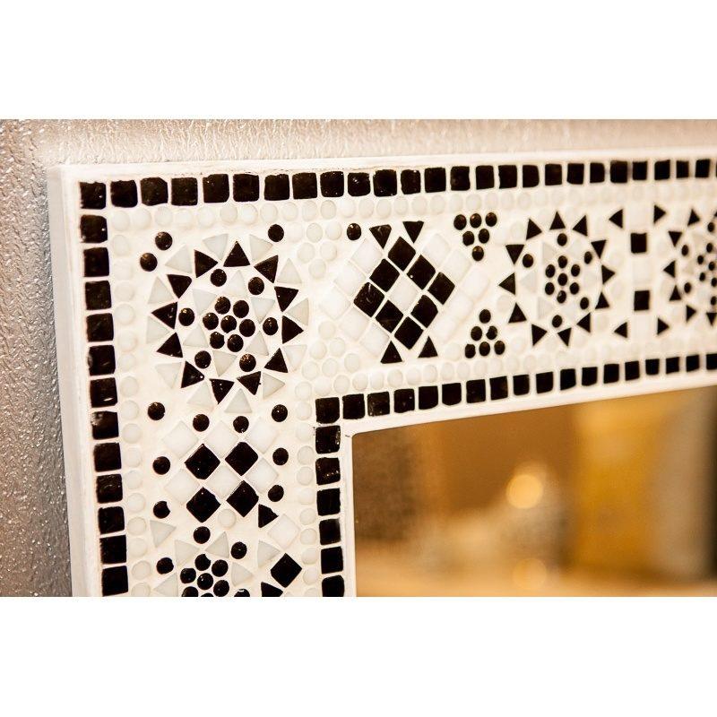 Mozaïek spiegel   Oosterse spiegels   Badkamer spiegel   zwart/wit   Oosters interieur