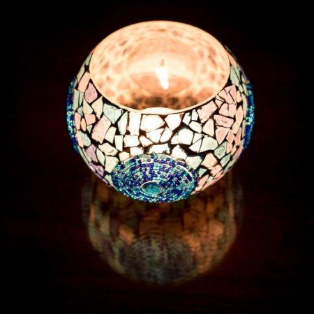 Oosterse waxinelichthouder | mozaïek | Marokkaanse lampen | Oosters interieur