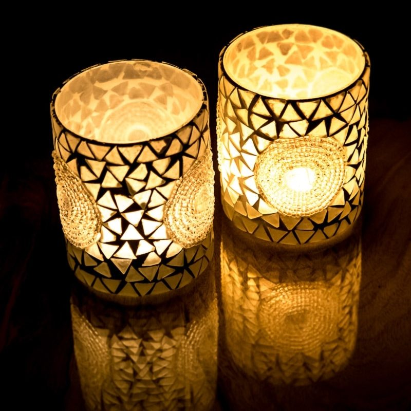 Oosters waxinelicht | Glas mozaïek | Marokkaanse verlichting | Oosterse outlet