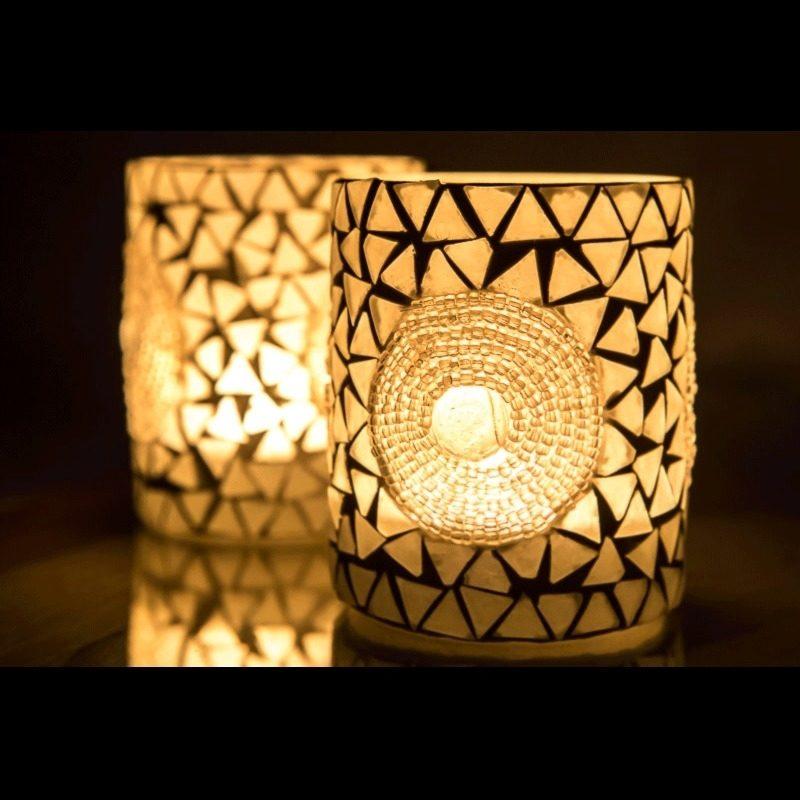 Oosters waxinehouder | mozaïek | Marokkaanse lampen | Oosterse inrichting