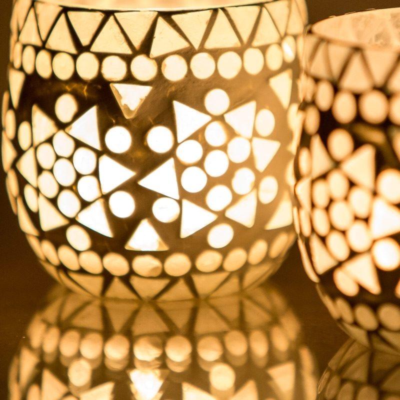 Oosters waxinelichthouder | Mozaïek | Oosterse inrichting | Marokkaans lantaarn