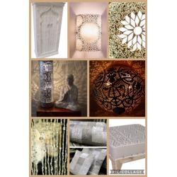 Oosterse lampen | Marokkaanse kast | Patchwork kussens