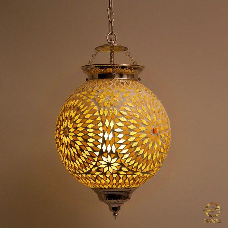 Oosterse hanglamp   Mozaïek   Marokkaanse lamp   Arabisch inrichting
