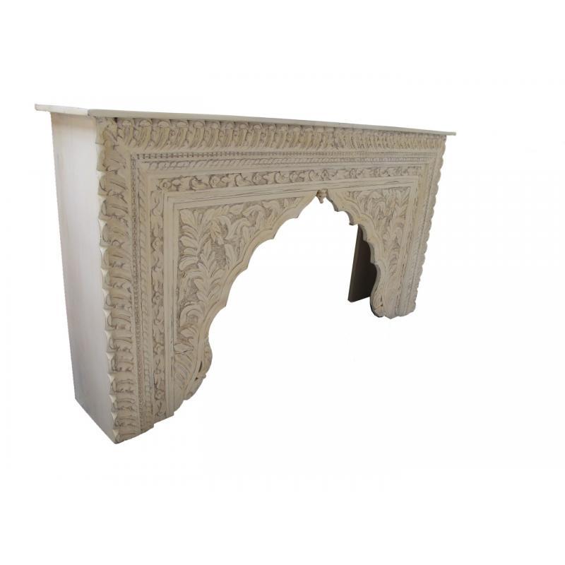 Oosterse sidetable | Arabische tafel | Marokkaanse meubels | Whitewash
