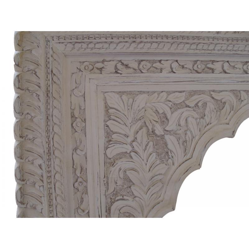 Oosterse meubelen | Houtsnijwerk | Lotus | Oosters interieur | Whitewash