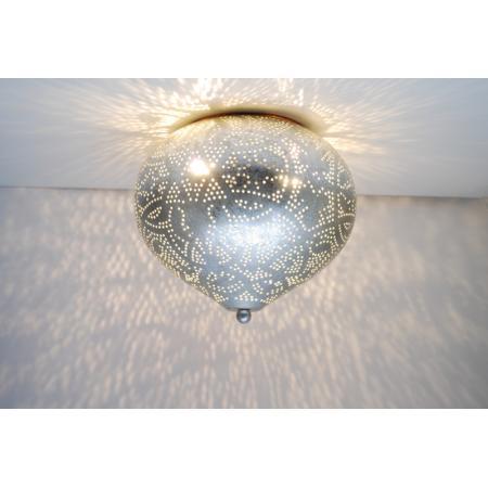 Filigrain plafonnière | Oosterse lamp zilver | Arabische lampen | Oosters interieur