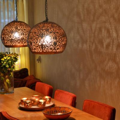 Marokkaanse lamp | Oosterse lampen | Filigrain | Eettafellamp