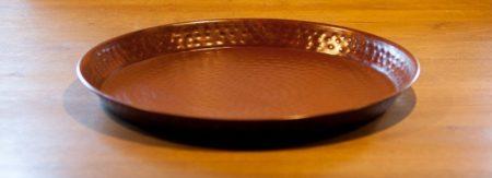 Oosters dienblad roestkleurig | Waxinehouders | Arabische dienbladen | Oosterse sfeer