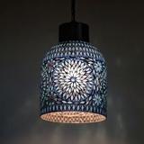 Oosterse hanglamp | Mozaïek | Blauw | Marokkaanse lampen | Oosters interieur