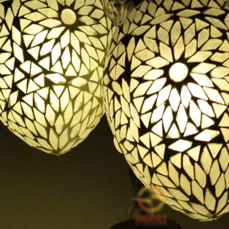 Oosterse lampen met 5 mozaïek bollen | Unieke Arabische lampen | Oosters interieur specialist Kalini