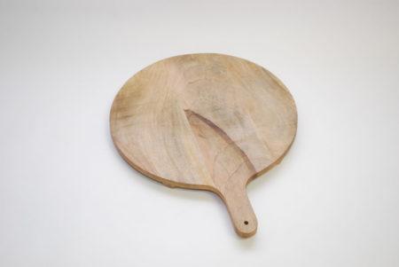 oosterse snijplank | Massief mango hout | Lederen koord | Snijplanken