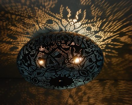 Oosterse filigrain plafonniere   Arabische lampen   Marokkaanse verlichting