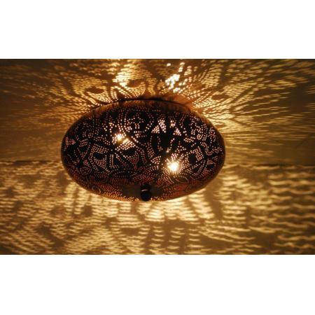 Oosterse plafonniere | Filigrain lamp | Zwart | Bruin | Arabische lampen