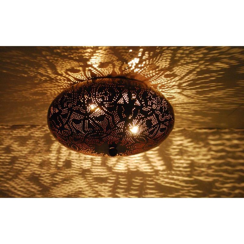 Oosterse plafonniere   Filigrain lamp   Zwart   Bruin   Arabische lampen