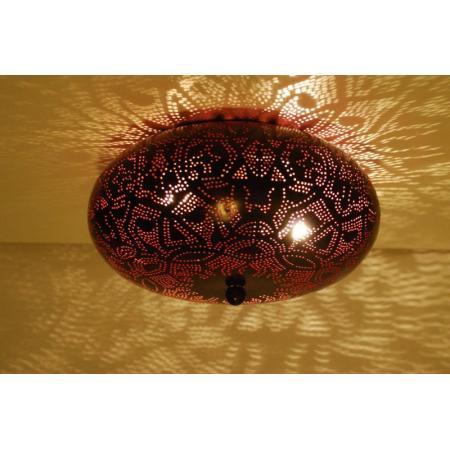 Oosterse plafonnière | Filigrain | Zwart roze | Arabische lampen | Oosters interieur