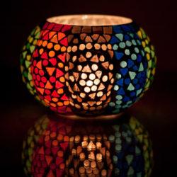 Oosterse waxinehouder | Mozaïek | Marokkaanse verlichting | Arabisch interieur