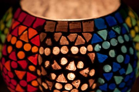 Oosterse waxinehouder | Mozaïek | Marokkaans interieur