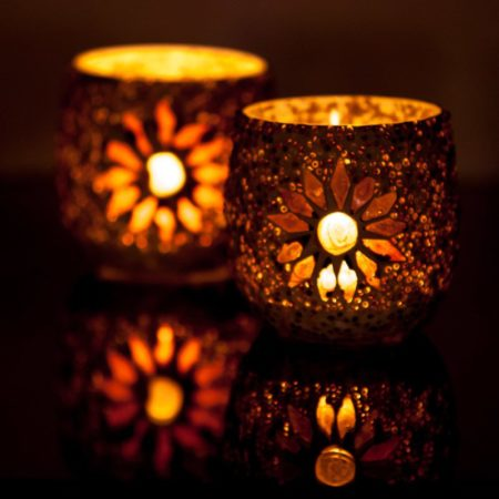 Oosterse waxinehouder | Mozaïek | Arabische verlichting | Oosters interieur