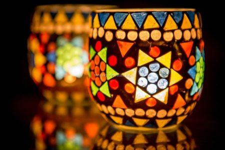 Oosterse waxinehouder | Mozaïek | Oosters interieur | Arabische lampen | Marokkaanse accessoires