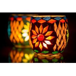 Oosterse waxinehouder | Marokkaanse sfeerverlichting | Oosterse sfeer