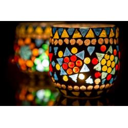 Oosterse waxinehouder | Mozaïek | Arabische lampen | Marokkaans interieur