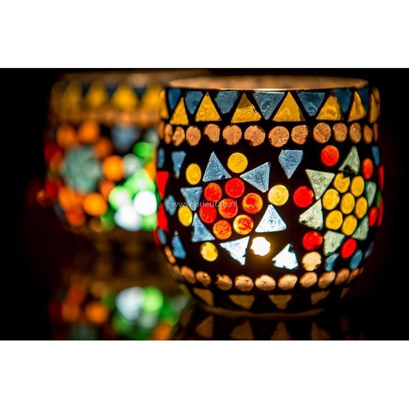 Oosterse waxinehouder   Mozaïek   Arabische lampen   Marokkaans interieur