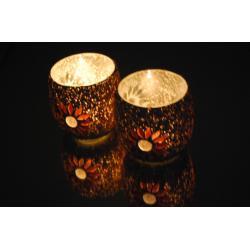 Oosterse waxinehouder | Paars | mozaiek | Arabische verlichting | Oosters interieur