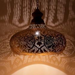Arabische hanglamp   Vintage goud   Marokkaanse lampen   Oosterse lampen