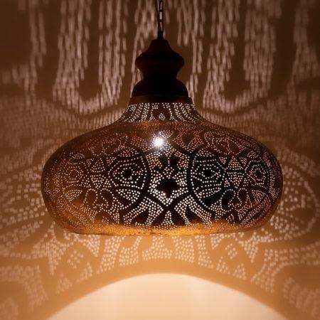 Arabische hanglamp | Vintage goud | Marokkaanse lampen | Oosterse lampen