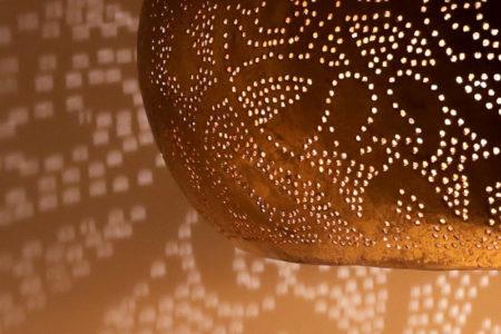 Arabische hanglamp   Vintage goud   Filigrain   Oosterse lampen
