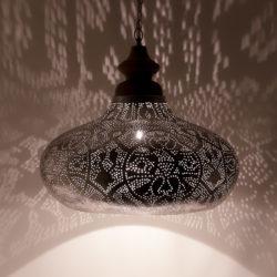 Oosterse hanglamp   Filigrain   Arabische lamp   Marokkaanse lampen   Zilver