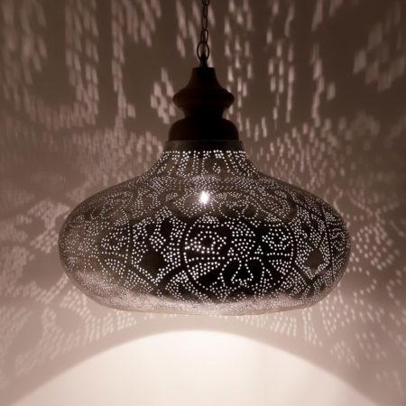 Oosterse hanglamp | Filigrain | Arabische lamp | Marokkaanse lampen | Zilver