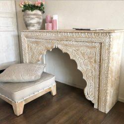 Oosterse sidetable naturel | Marokkaanse meubelen | Oosterse kasten | Arabische kast | Bijzettafel