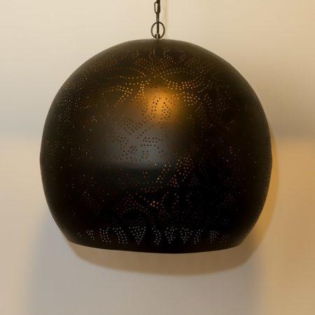 Oosterse hanglamp met open onderkant prachtig filigrain metaal Oosterse lampen online