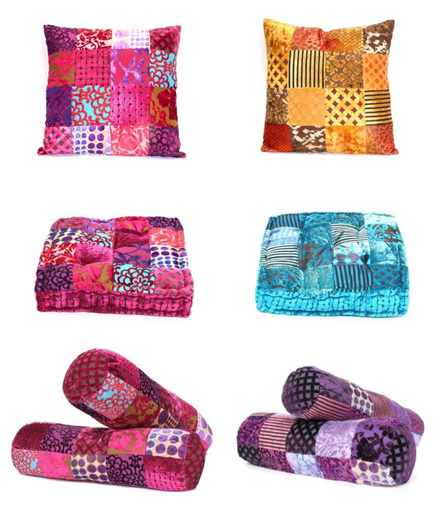 Oosterse kussens patchwork Marokkaans kussen Arabische kleuren Oosters interieur