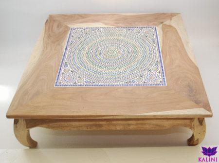 Oosterse tafel met kleurrijk mozaïek luxe Marokkaanse bijzettafel met Arabische afwerkingen Oosterse meubelen