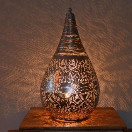 Oosterse tafellamp | Marokkaanse lamp | Oosterse lampen | Zilver
