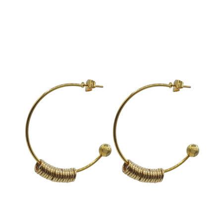 oorbellen | sieraden | goudkleurig | verguld goud | creolen |
