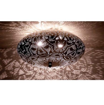 Oosterse plafonnière | Marokkaanse lamp | Filigrain | Silver | Arabische lampen | Oosterse lamp | Zilverkleurig | Metaal