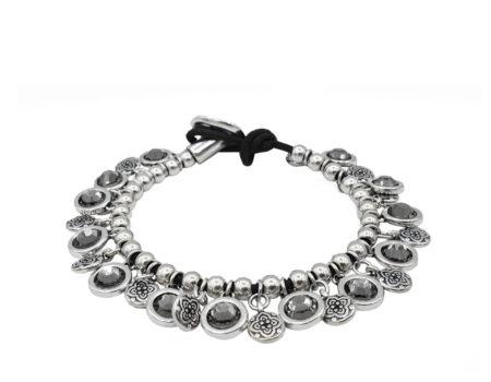 Armbanden | Sieraden | Verzilverd | Antraciet | Swarovsky | Bedeltjes |