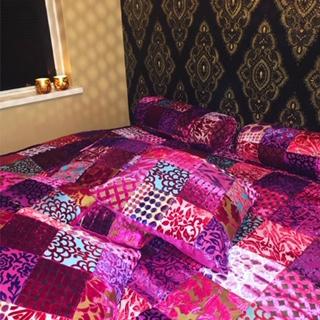 Oosterse bedsprei | Patchwork | Kussens | Marokkaanse kussens | Oosterse interieur