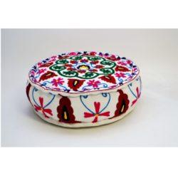 Oosterse poef | Bloemen | Multi colour | Oosterse poefen | Marokkaanse poef | Oosters interieur