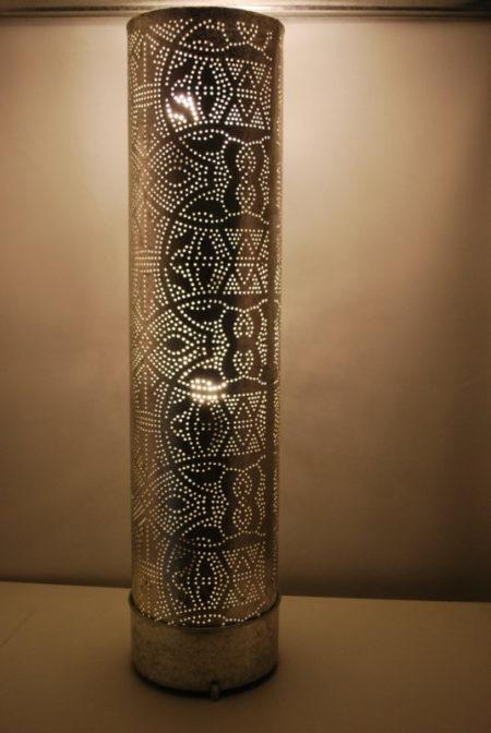 Zilver Oosterse lamp | Vloerlamp | Staande lampen | Marokkaanse lamp