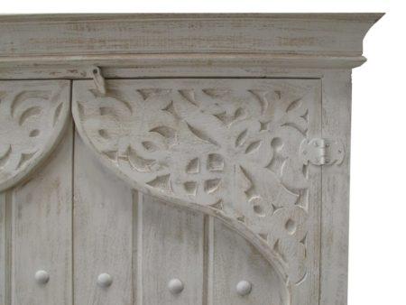 Oosterse kast | Houtsnijwerk | Whitewash | Oosterse meubelen | Marokkaanse kast