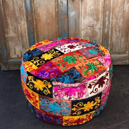 Oosterse poef | Kleurrijke poef | Arabische poef | Marokkaanse poefen | Oosters interieur